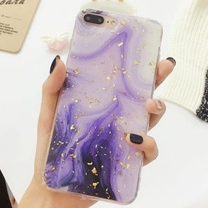 NEW iPhone XS Max Purple and Gold Foil Case